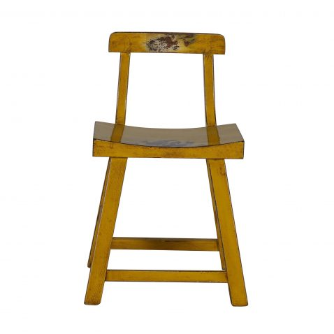 yellow lacquered asian inspired chair