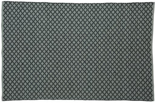 Block & Chisel grey cotton carpet with black print