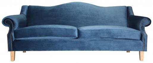 Block & Chisel blue velvet 3 seater sofa