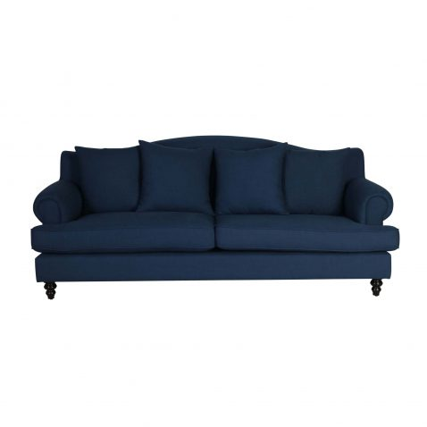 Lucerne 3.5 Seater sofa with cushions in blue