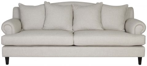 Block & Chisel Yale linen upholstered 3 seater sofa