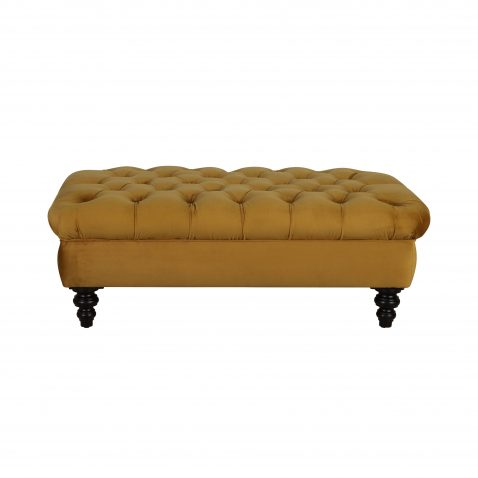 chesterfield deep buttoned ottoman in gold
