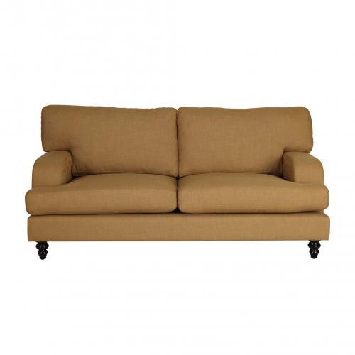 Savoy mustard yellow 2 seater sofa