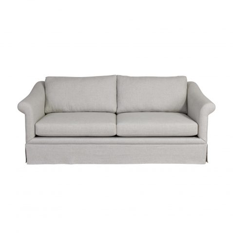 Locally made Thora sofa in yale linen