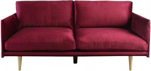 Block & Chisel artichoke velvet upholstered sofa with steel tube legs