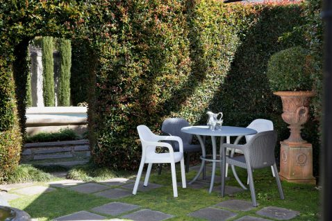 Block & Chisel white outdoor dining chair
