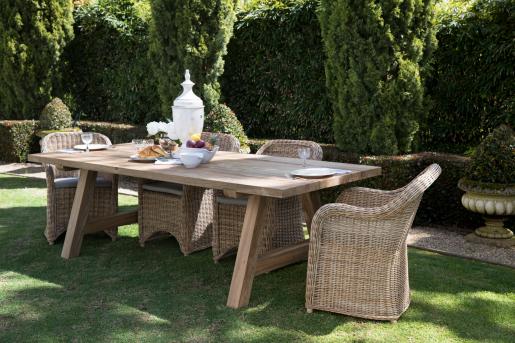 Block & Chisel rattan outdoor dining armchair