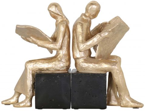 Block & Chisel polyresin bookends