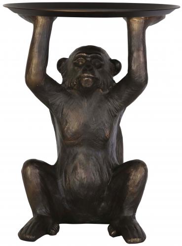 Block & Chisel polyresin monkey with metal holder