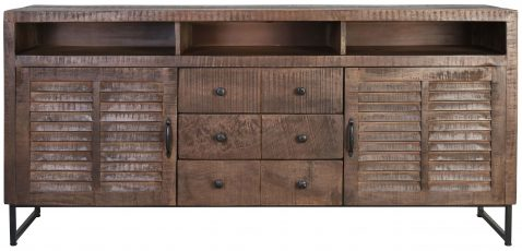 Block & Chisel mango wood sideboard with metal legs
