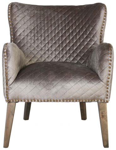 Block & Chisel velvet upholstered club chair with birch wood legs