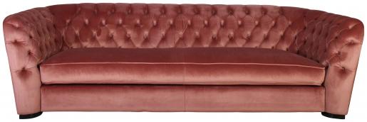 Block & Chisel pink velvet upholstered 3 seater sofa