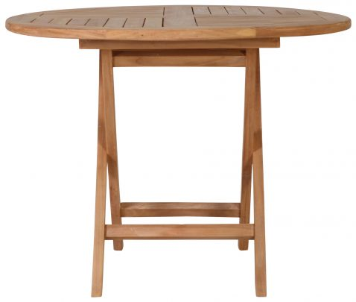 Block & Chisel round teak folding dining table