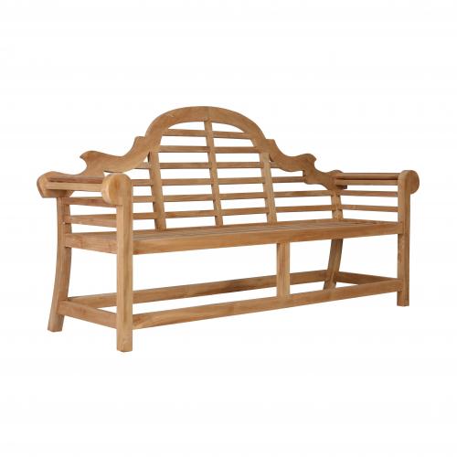 Block & Chisel teak wood bench
