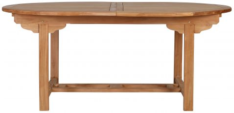 Block & Chisel oval dining table
