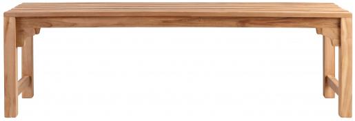 Block & Chisel slated teak wood bench