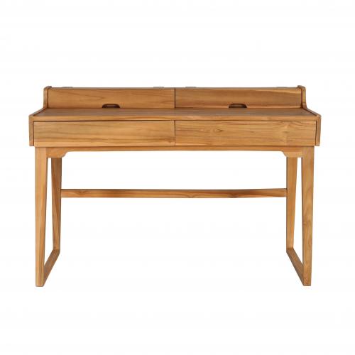 Block & Chisel teak wood writing desk