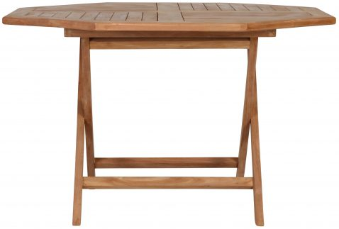 Block & Chisel teak wood folding dining table