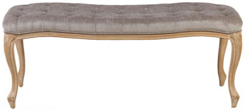 Block & Chisel grey upholstered button tufted bed end
