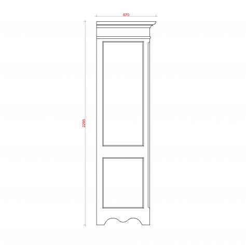 Block & Chisel double door antique white wardrobe