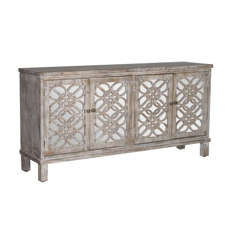 mirrored sideboard with 4 doors