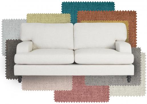 Block & Chisel linen upholstered sofa