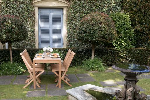 Block & Chisel teak foldable dining chair