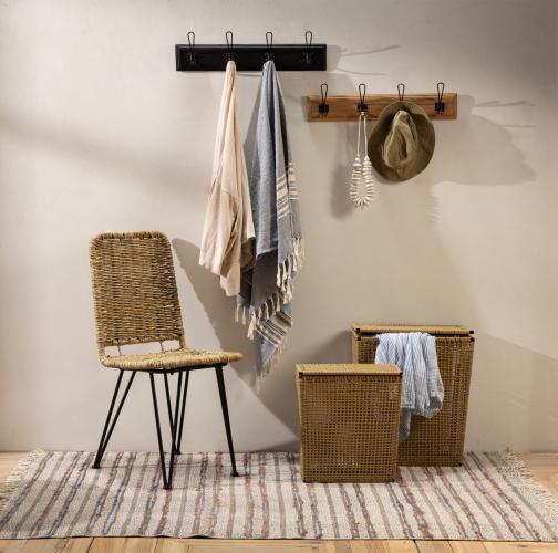 pvc rattan laundry basket medium