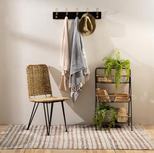 Metal 3 tier basket storage shelf