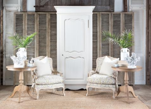 Block & Chisel single door antique white wardrobe