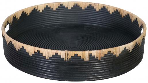 Block & Chisel round flat rattan basket