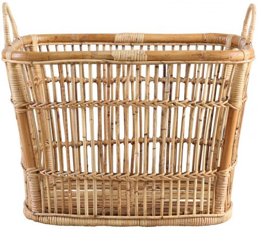 Block & Chisel natural rattan basket with handles