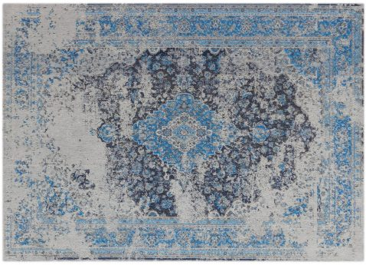 Block & Chisel grey and blue printed rug