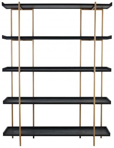 Block & Chisel 5 tier bookshelf