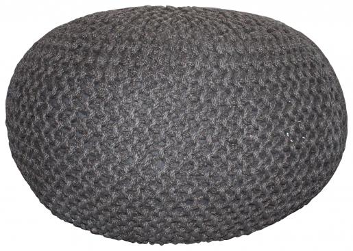 Block & Chisel round jute woven pouf