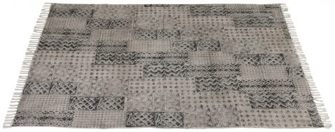 Block & Chisel multi-colour printed cotton rug
