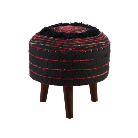 zita stool in red and black
