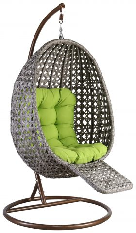Block & Chisel rattan hanging chair with stand