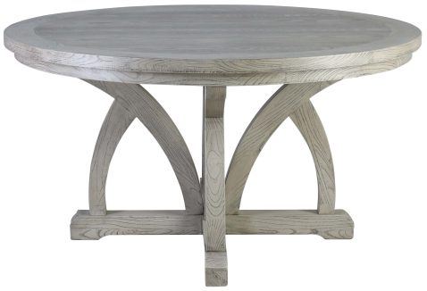 Block & Chisel round dining table