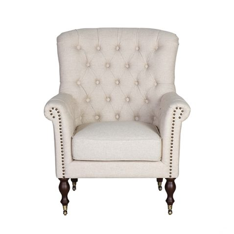 Roseanne chair in speckled beige