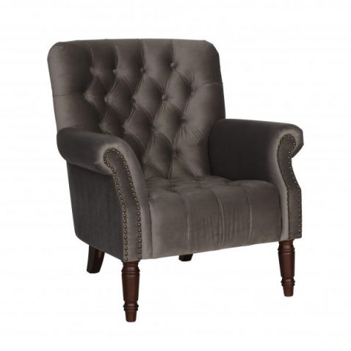 Windsor Tufted armchair in dove grey