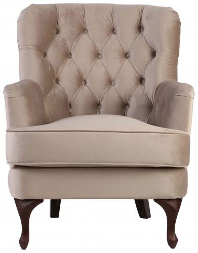 Block & Chisel light grey velvet upholstered occasional chair