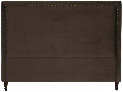 Block & Chisel brown upholstered king size headboard