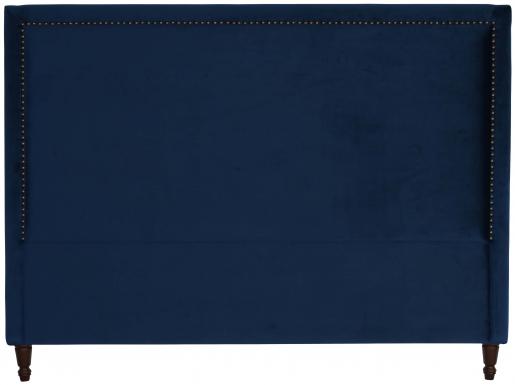 Block & Chisel navy blue upholstered king size headboard