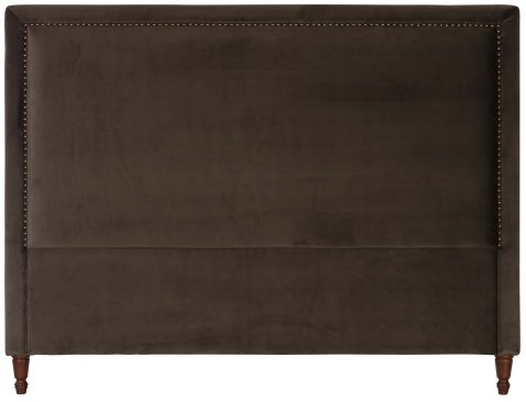Block & Chisel rosewood upholstered king size headboard