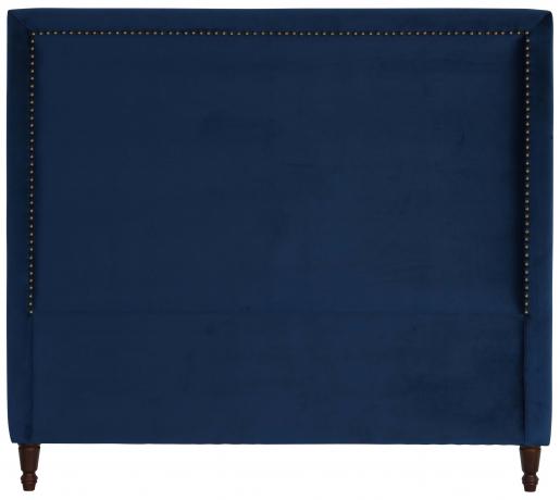 Block & Chisel navy blue upholstered queen size headboard