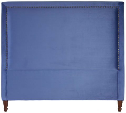 Block & Chisel persian blue upholstered queen size headboard