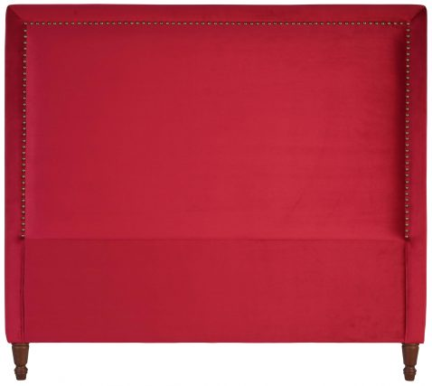 Block & Chisel red upholstered queen size headboard