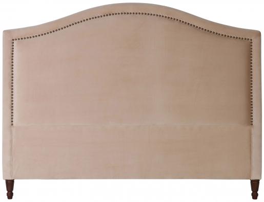 Block & Chisel camel upholstered king size headboard