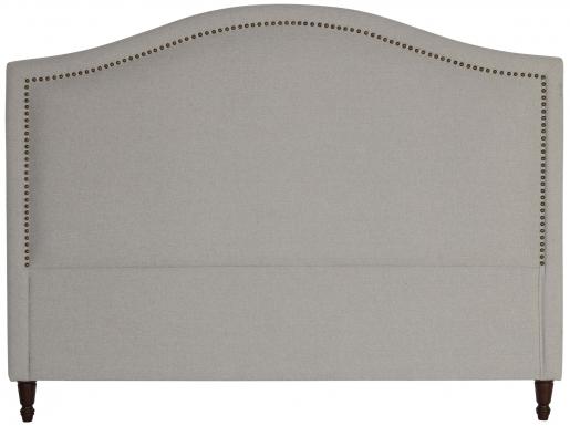 Block & Chisel grey upholstered king size headboard